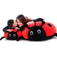 Dorimytrader Lovely Giant Cartoon Ladybug Plush Toy Animal Ladybird Doll Pillows Decoration Gift 70x60cm DY60782