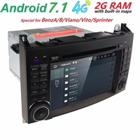 Bas prix 2din Voiture DVD GPS unité de Tête pour Mercedes Benz B200 un B Classe W169 W245 Viano Vito W639 Sprinter W906 4G Bluetooth Radio