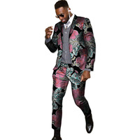 New arrivals African wax suit men Ankara fashion print dashiki suits man blazer with pant 2 pieces for wedding africa clothing