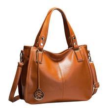 Hot Sale New 2017 Brand Handbag Famous Brands Genuine Leather Bags Women Handbag Fashion Vintage Bag Shoulder Bags Portable Bag