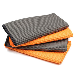 Image 5 - 2PC Car Wash Towel Glass Cleaning Water Drying Microfiber Window Clean Wipe Auto Detailing Waffle Weave for Kitchen Bath 40*40cm