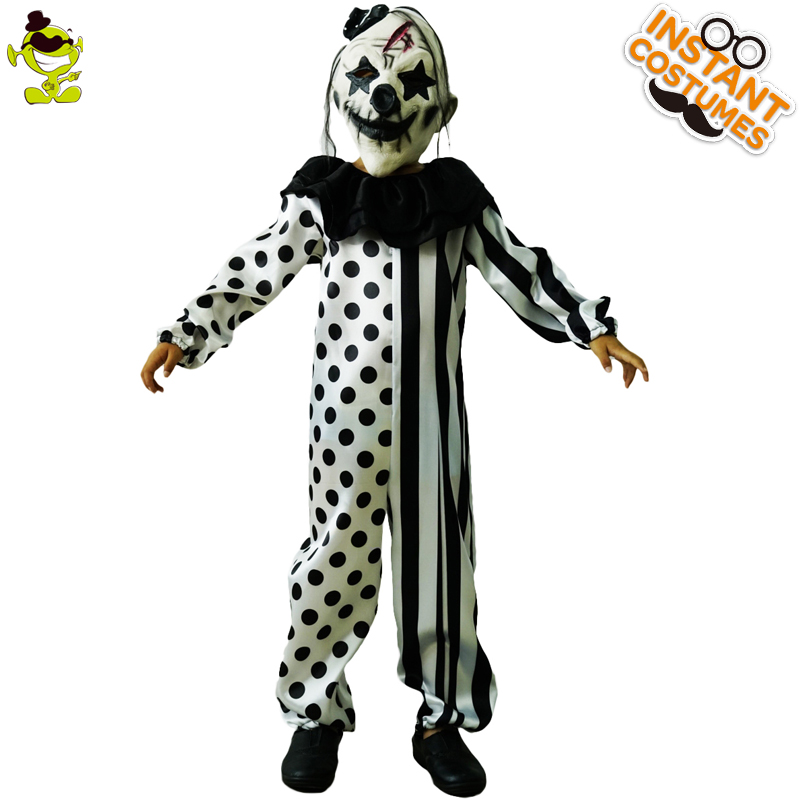 Boys Killer Clown Costumes Halloween Masquerade Party Role Play Outfit  Children With Mask Killer Disguise Party Sets In Boys Costumes From Novelty  U0026 Special ...