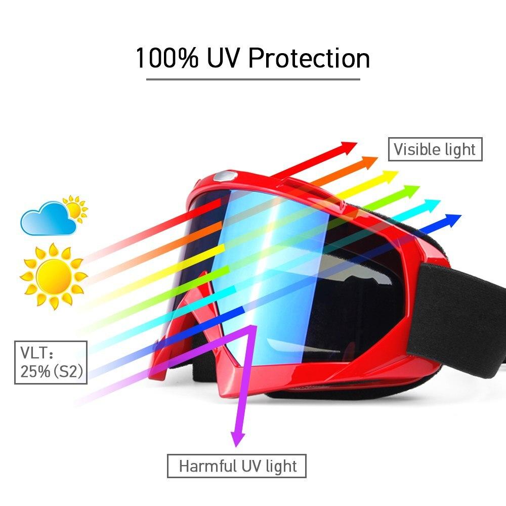 Men Women Ski Snowboard Snowmobile Goggles Anti-fogging Goggle Skiing UV400 Protective Goggles Winter Windproof Skiing Glasses