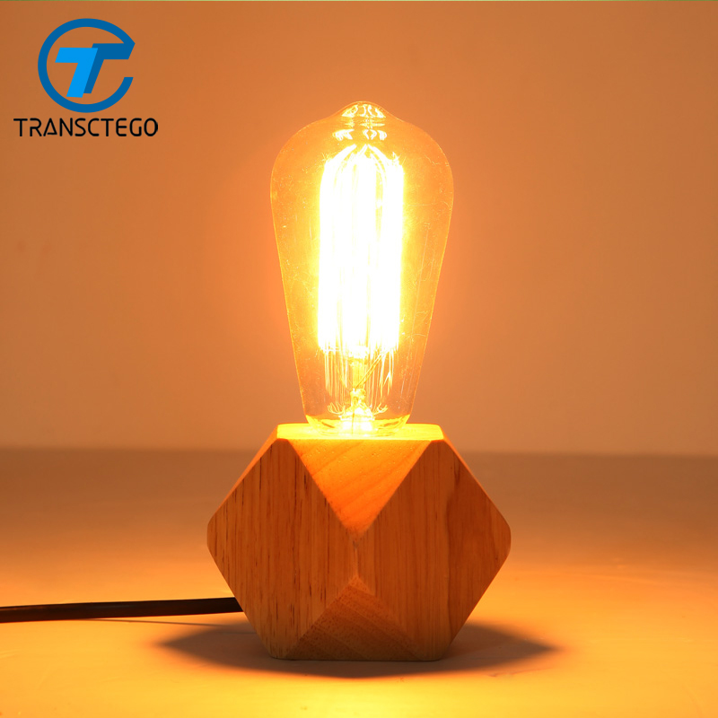 Modern creative wooden desk lamp adjustable bedroom bedside lamp warm study lamps Contracted personality table lamp north european style retro minimalist modern industrial wood desk lamp bedroom study desk lamp bedside lamp