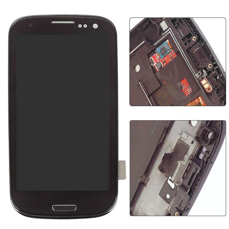 """imágenes para 4.8 """"Negro Pantalla LCD de Pantalla Táctil con Digitalizador Conjunto Completo de Reparación de Piezas con Marco Para Samsung Galaxy S3 SIII I9300"""