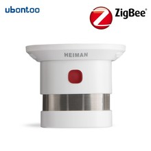 Купить с кэшбэком Alarm Smoke Wireless Fire Alarm Loud Inbuilt Siren 85db Fire Alarm Sensor Zigbee Smoke Detecting Sensor