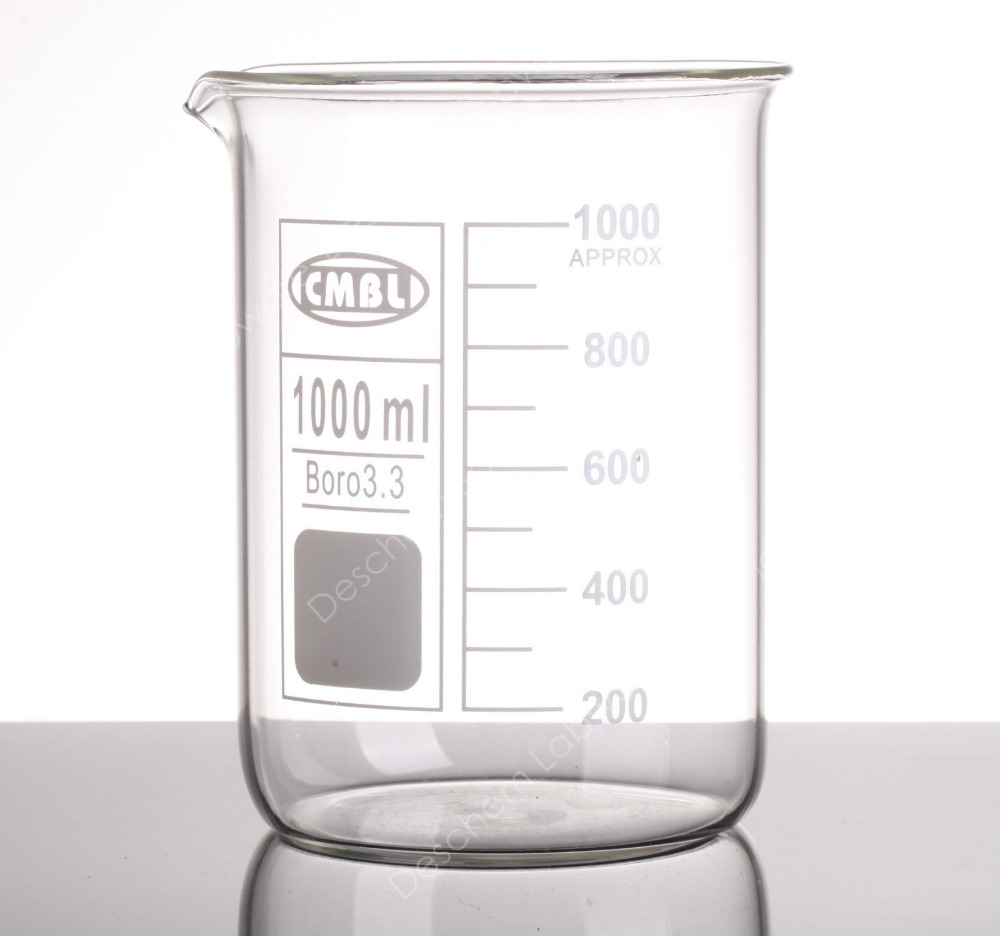 buy 1000ml glass beaker 1l low form beakers one litre borosilicate 3 3. Black Bedroom Furniture Sets. Home Design Ideas