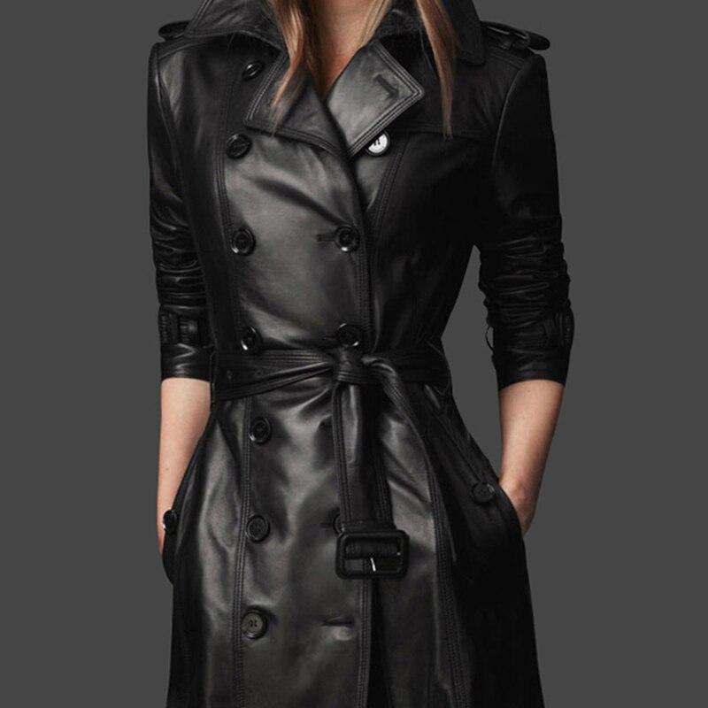 Leather Jacket For Women 2017 Autumn Winter Woman Leather Coat Female Slim Plus Size S 4XL