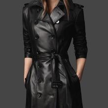 Кожаная куртка для Для женщин; коллекция 2017 г.; на осень-зиму женские кожаные пальто женский тонкий плюс Размеры S-4XL Босоножки из искусственной PU кожи Для женщин верхняя одежда