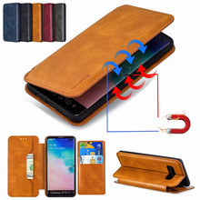 Luxury Leather Flip Case for Samsung Galaxy S10 E S9 S8 Plus Flip Magnetic Card Holder Stand  Wallet for A10 A20 A30 A40 A50 A70 mooncase suede leather side flip wallet card holder stand pouch чехолдля samsung galaxy s6 brown
