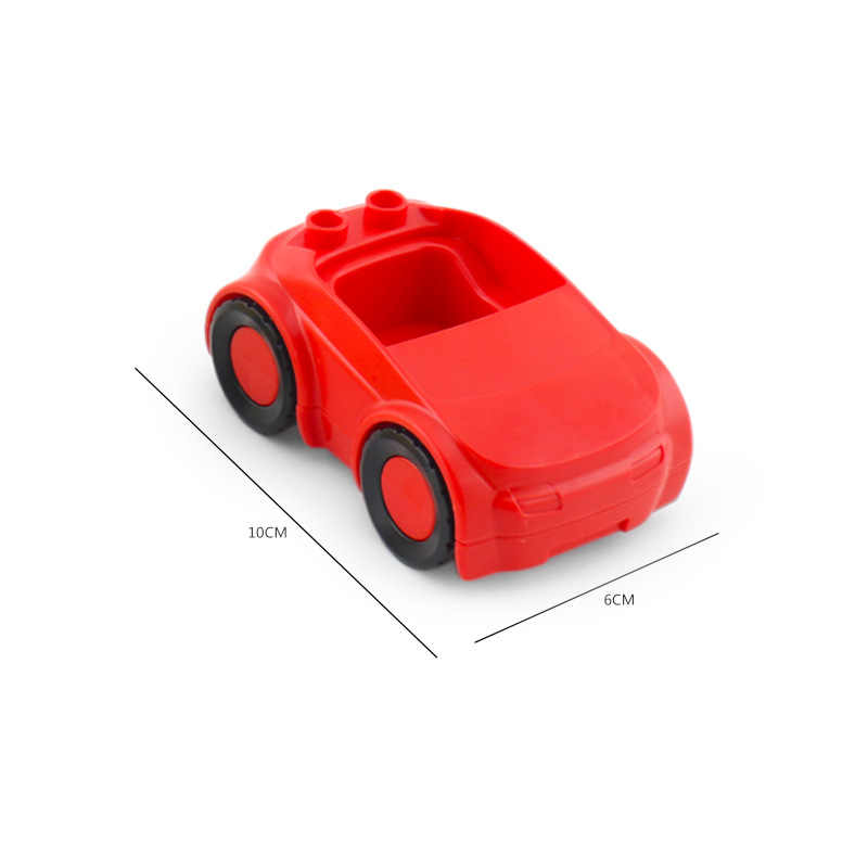 Legoing Duplo Coches Motos figura tamaño grande MOC venta única DIY bloques de construcción de juguete para niños Compatible con bloques Duplo
