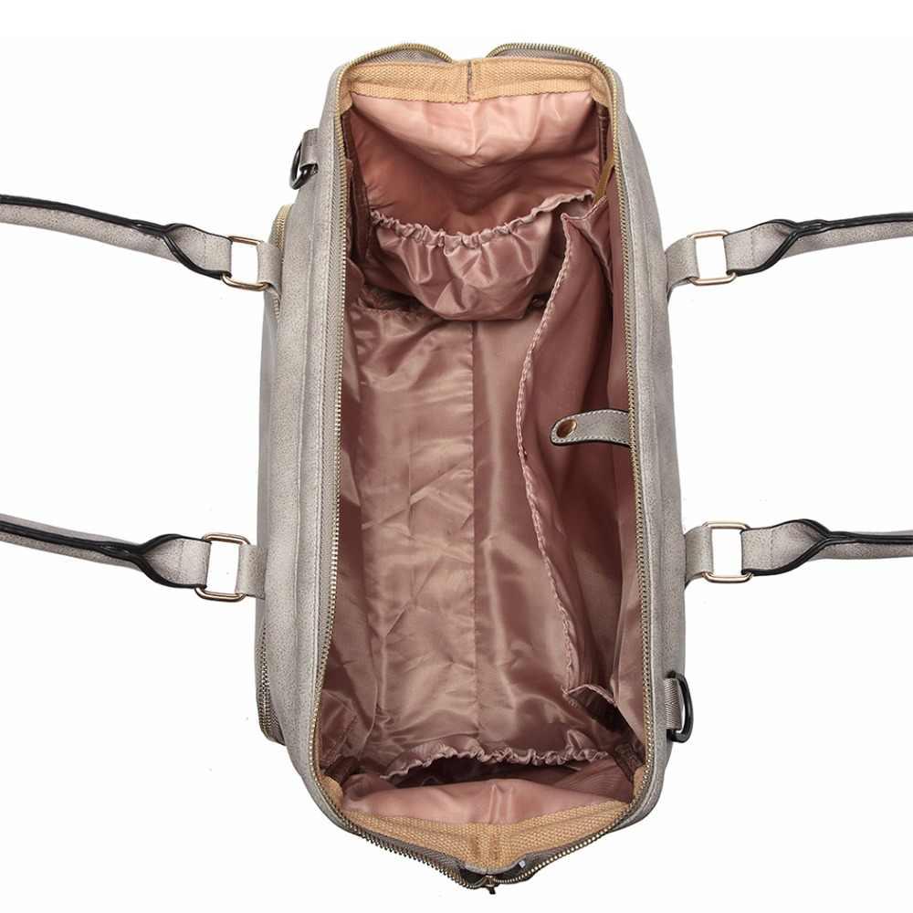 859d66f4d2adb ... Miss Lulu Baby Diaper Nappy Changing Bag Nursing Clean Bags  Multifunction Mummy Maternity Leather Handbag Stroller ...
