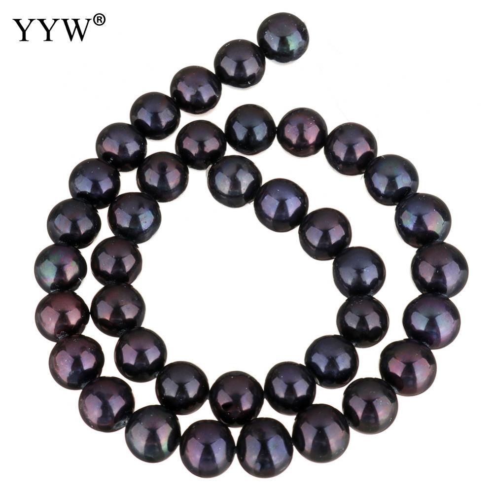Культивированный пресноводный жемчуг неправильной формы бусины черный 11 12 мм около 0,8 мм продан через приблизительно 15 дюймовый Strand