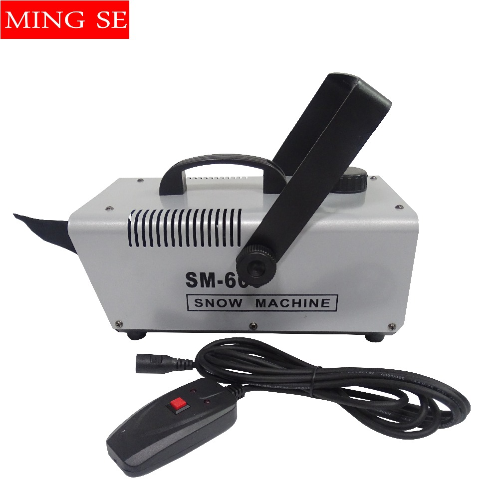600W Snow Machine Wire Control Snowflake Machine Use For Party Wedding Disco Professional Stage DJ Equipment