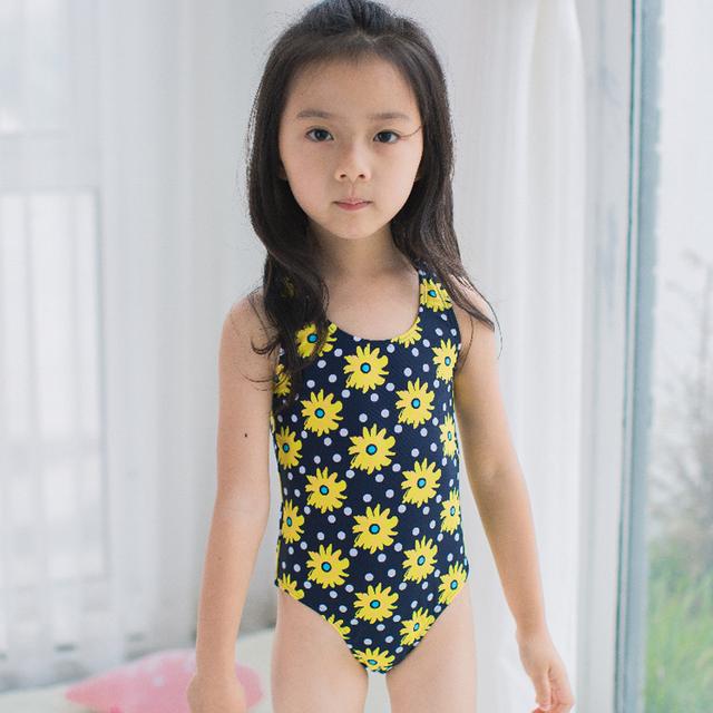 Flores doces Do Bebê Maiô UPF 50 + Proteção Solar Bebê Swimwear Menina