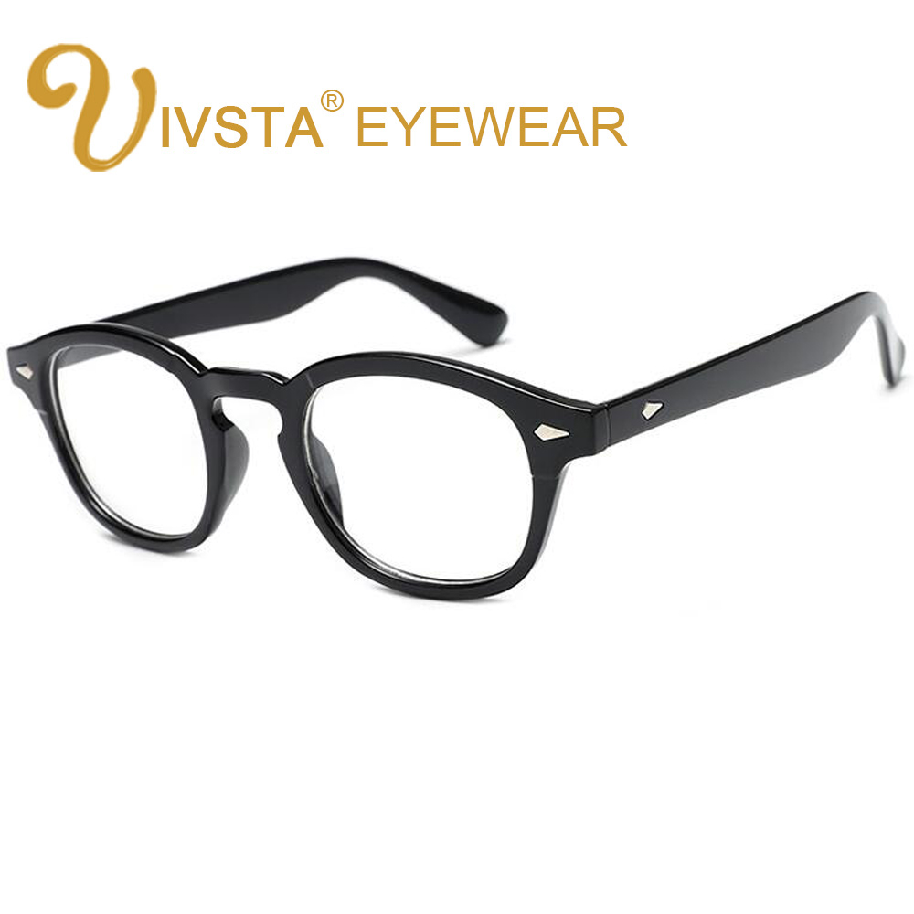 IVSTA Classic Style Johnny Depp Glasses Men Eyeglasses Frame Women Round Optical Frames Myopia Grade Lenses Bamboo Wood PC 793