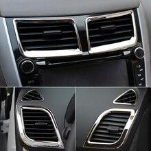 6 sztuk/zestaw nowy projekt ABS chrome wnętrze dekoracja do wylotu powietrza pierścień dla Hyundai Solaris Verna accent sedan hatchback 2011 2015