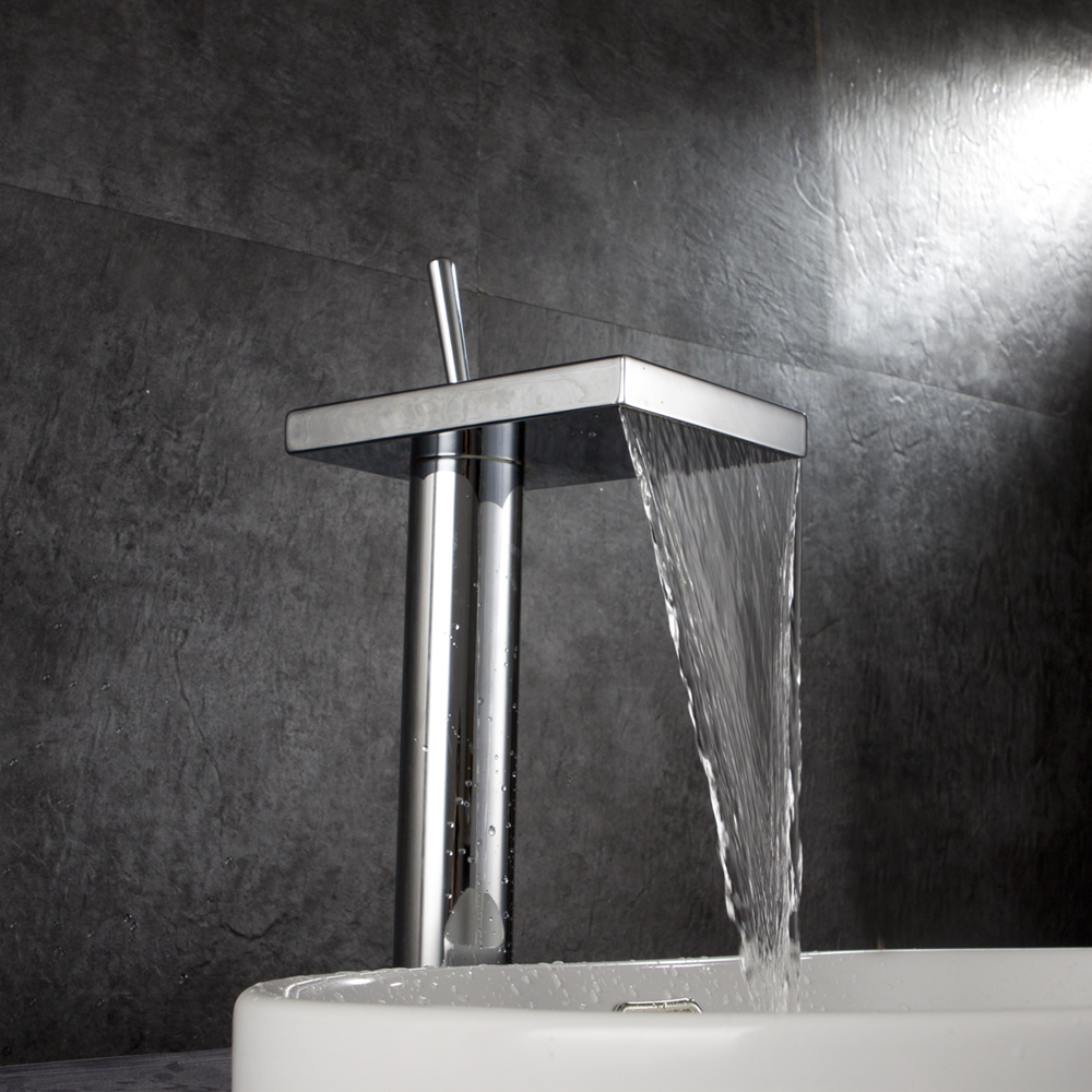 Basin Sink Faucet Chrome Finish Waterfall Faucet Mixer Tap Torneira Banheiro Robinet Salle De Bain мыльницы wess мыльница salle de bain