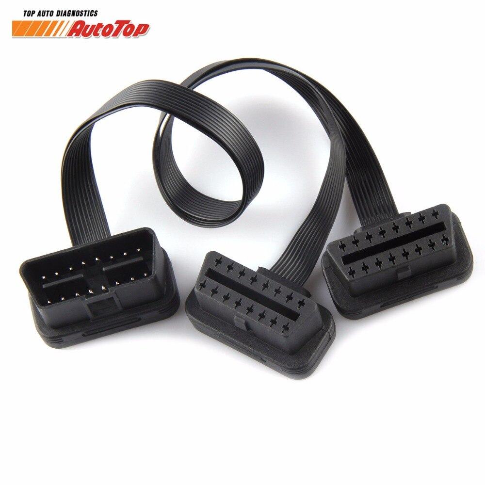 2018 ODB OBD2 Cable 16 Pin 1 Male To 16 Pin 2 Female OBD II OBD2 Connector OBD2 1-2 Extension Diagnostic Cable Free Shipping lightning extension cable 8 pin male to female 2m