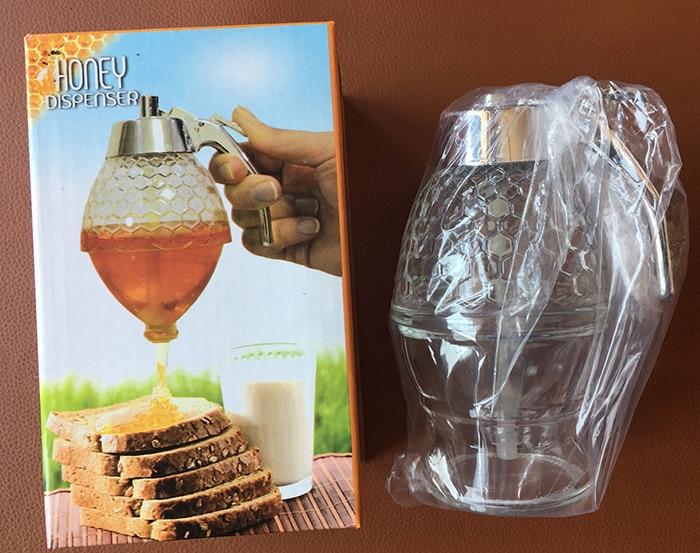 708e3ed7f17b 1PC New Honey Dispenser Jar Container Cup Portable Acrylic Storage ...