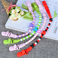 Baby Pacifier Clip Chain Attache Clip Dummy Pacifiers Leash Strap Beads Toy Teether Holder Baby Soother Chain VBT02 P20 0.5