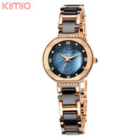 KIMIO Fashion Montre Femme High Quality Quartz Watch 6 Color Alloy Band Luxury Office Brand Women