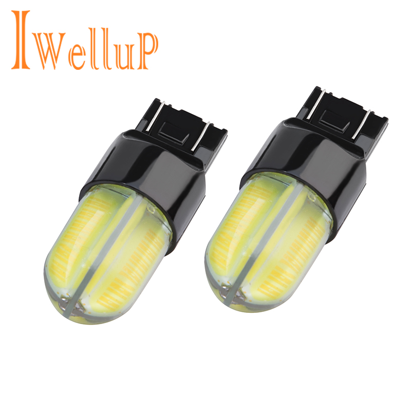 2 pcs new Car led T20 7443 W21/5W auto brake car light fog lamp reverse light Brake Parking Reverse Lamp bulb car daytime runn ...