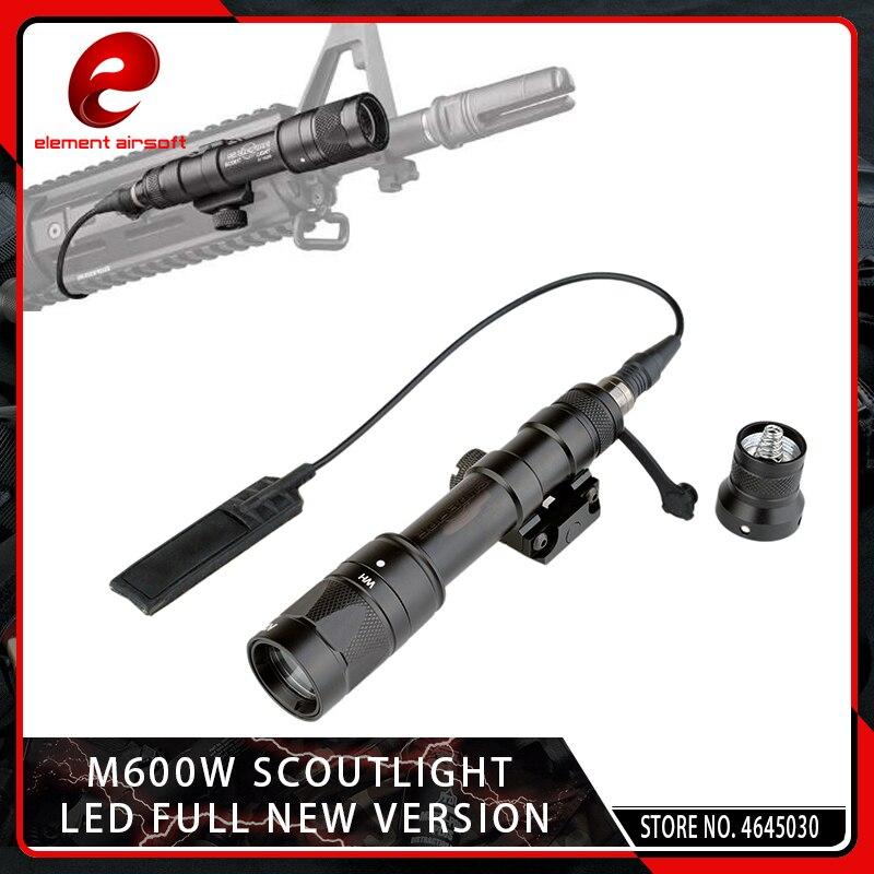 elemento airsoft m600w de aluminio lanterna led branco cree led q5 picatinny pistola luz strobe lampada