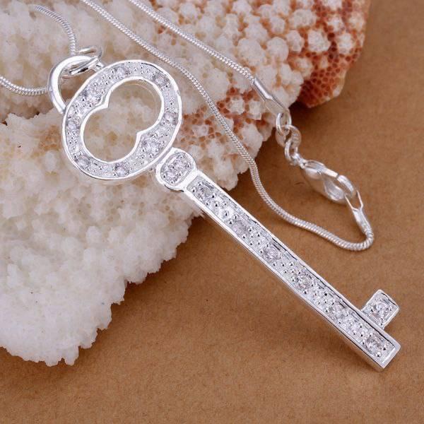 P177 Free Shipping Silver Plated Necklace, Silver Plated Fashion Jewelry Key Words Insets 8 /arfajima Cdwakvda