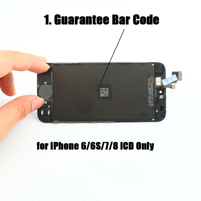 100% Guarantee for <font><b>iPhone</b></font> 6 6S Display on 7 <font><b>8</b></font> Screen Replacement with Kit <font><b>LCD</b></font> for <font><b>iPhone</b></font> <font><b>Ecran</b></font> + Black White OEM Assembly Back image