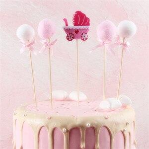 Image 4 - ベビーシャワーのケーキトッパーイスラム教徒ベーキング少年少女洗礼ブルー 1st 誕生日パーティーの装飾イベントパーティーの diy インテリア