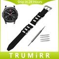 22mm caucho de silicona watch band para samsung gear s3 classic frontera correa para la muñeca doble cepillo de acero inoxidable pulsera de la hebilla