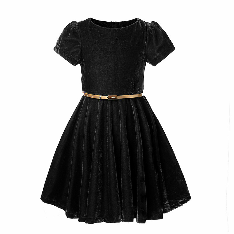 Vintage Velvet Dress For Girls Party Teenage Girl Princess Dresses Wedding Kids Costume Country With Belt 3 12Y In From Mother