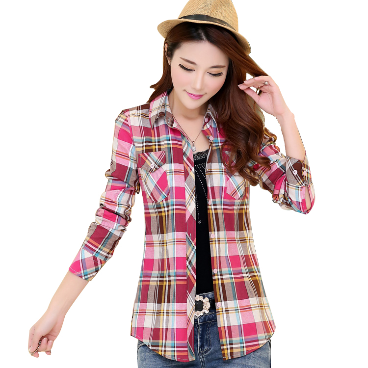 2016 Spring New Casual Shirt Blouses Plus Size Women