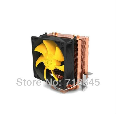 Ny 8cm fläkt 2 värmepannor, tornsidblåst, Intel LGA775 / 1155/1156, AMD 754 / 939AM2 / AM2 + / AM3 FM1 / FM2, cpu-radiator, CPU-fläkt, CPU-kylare