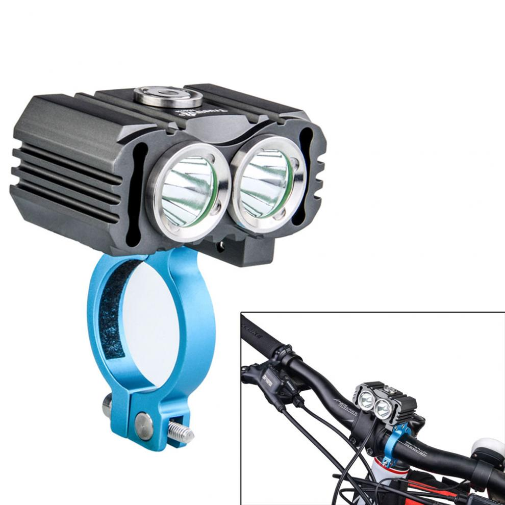 TrustFire 4000LM D016 L2 LED Bicycle Bike Light Flashlight 3-mode Waterproof with 5200mAh Battery Pack ru eu bicycle light high low beam lamp bike front light xml l2 led 6 mode waterproof headlights with battery pack