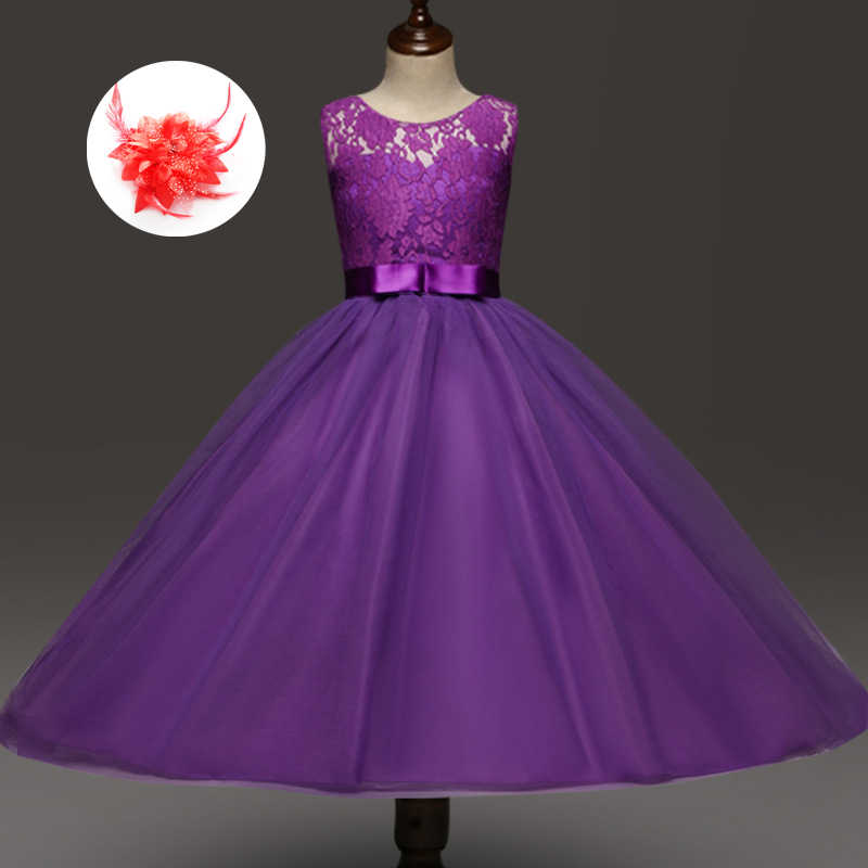 759048ba671d1 Fashion Cute Cheap Flower Girl Purple Red Grey Turquoise Dress Party Kids  Children Wedding Gowns for Girls Size 12 14 Years