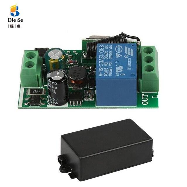 433 Mhz האלחוטי אוניברסלי מתג AC 85 V 110 V 220 V 1CH ממסר מקלט מודול עבור שער דלת מוסך פותחן