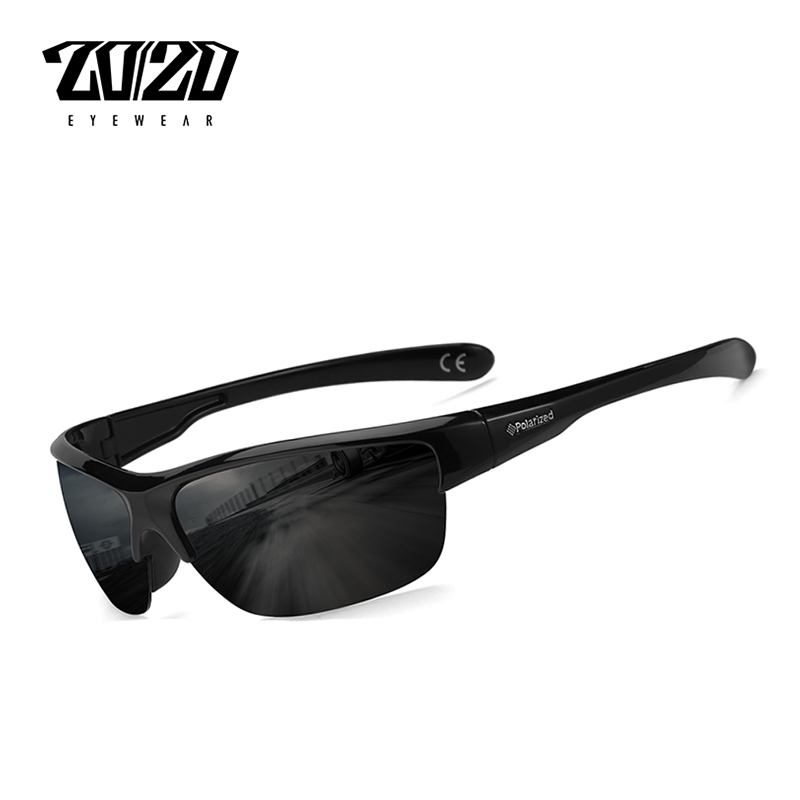 20/20 Marca Diseño clásico negro Gafas de sol polarizadas Vintage Plaza lente Gafas de sol hombre conducción Gafas PL289