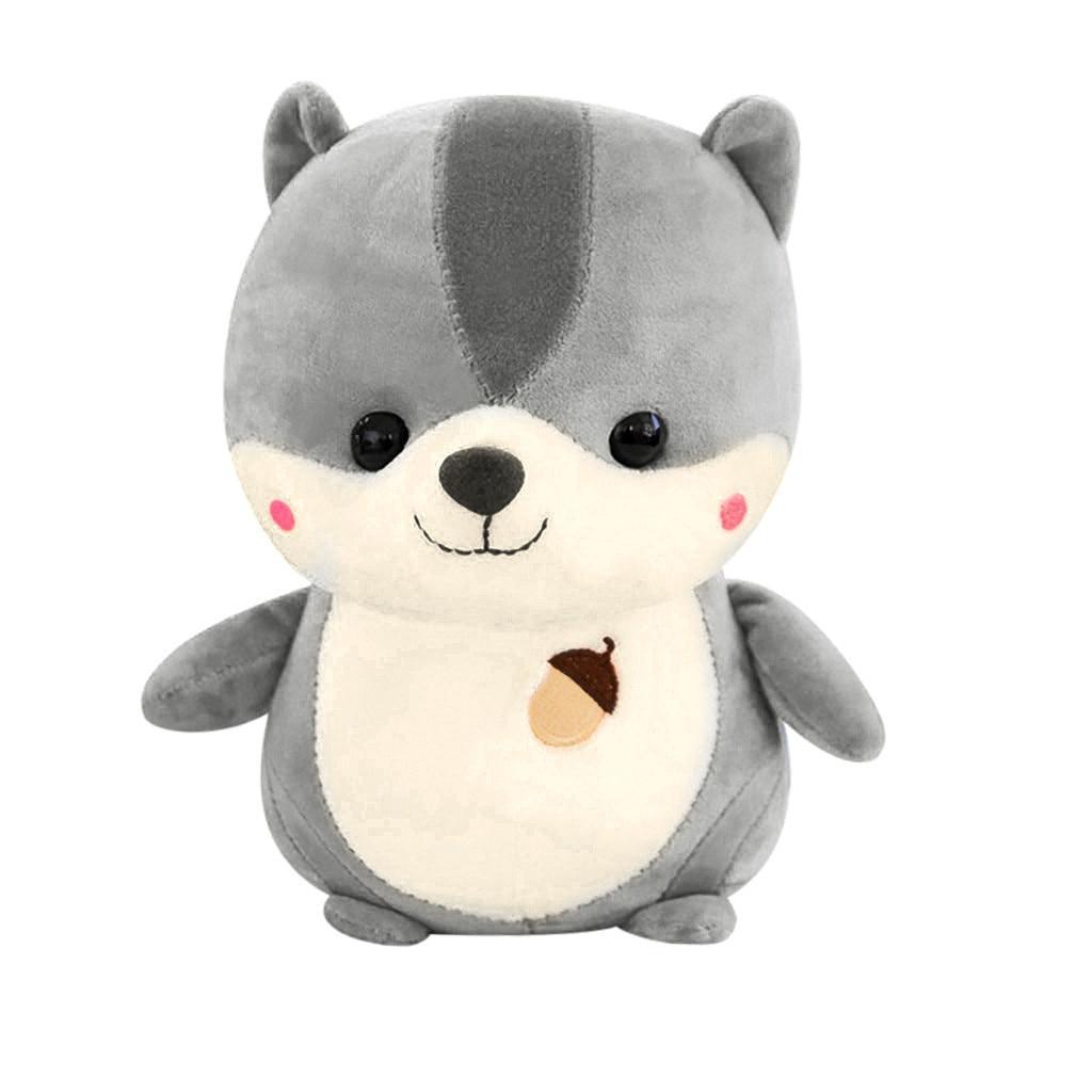 Lovely Soft Squirrel Animal Doll Stuffed Plush Toy Home Party Wedding Kid Gift Cartoon Soft Sleep Cute Kawaii New Creative L425