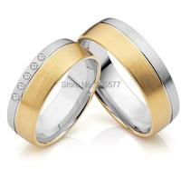 Ручной работы хирургической нержавеющей titanium обручальные кольца пара для любителей обувь для мужчин и женщин