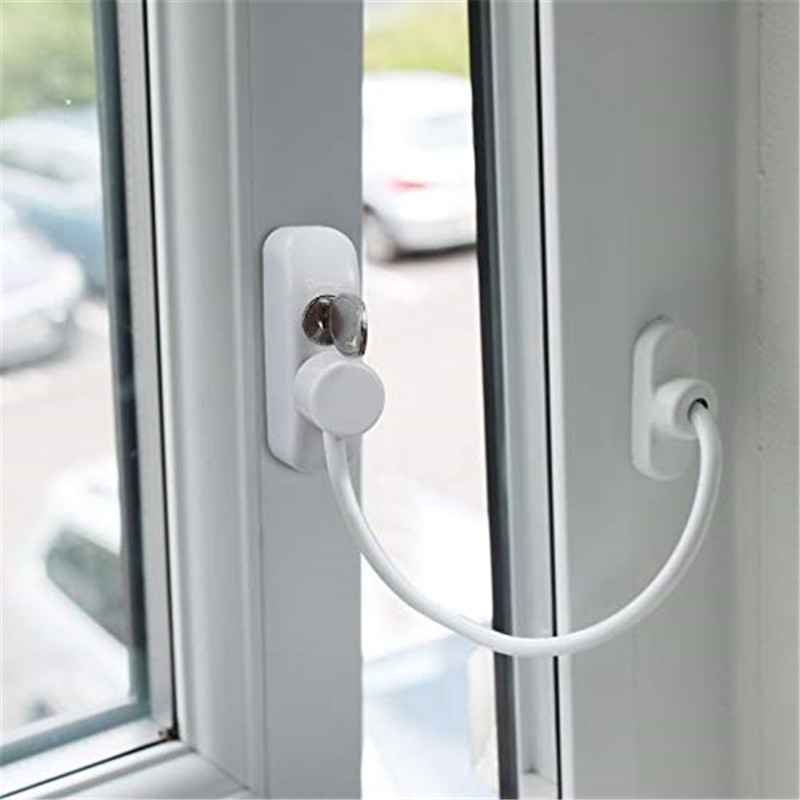 Baby Safety Security Window Cable Lock Catch Door Restrictor Lockable with keys