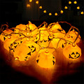 Battery Powered Led String 3.2M 16 LEDs Orange Pumpkin LED String Light For Halloween Props Haunted House Bar Decoration