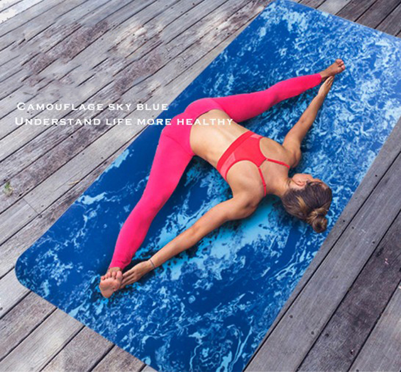 183*80*0.8cm TPE Non-Slip Camouflage Yoga Mat Exercise Fitness Mat Eco-friendly Thickening Increase Wide Yoga Mats Body Building suede tpe yoga mat anti slip sweat absorption 183 61cm 5mm yoga pad fitness gym eco friendly sports exercise pads best yoga mats