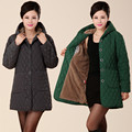 Winter Mianfu jacket middle - aged mother fitted cotton long paragraph in the women 's large cotton - padded jacket