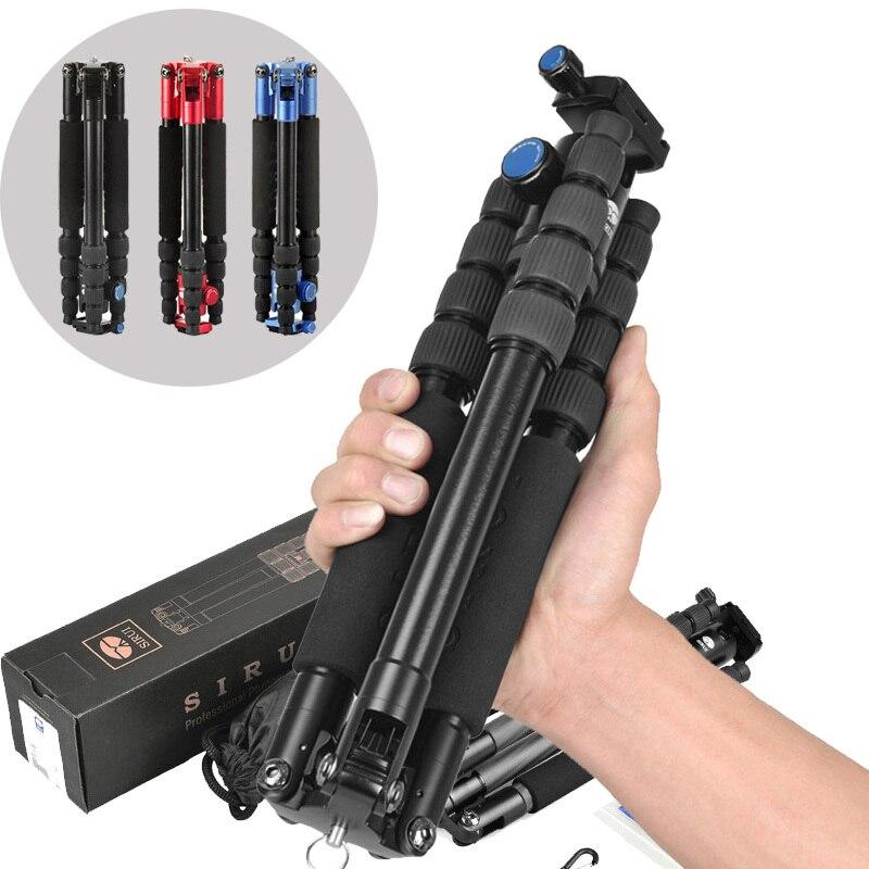 SIRUI T 005KX T005KX Professional Aluminum Portable Tripod For Camera With C10X Ball Head 5 Section