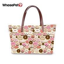 WHOSEPET Fashion Shivering Pattern Women Tote Bags Female Floral Fruit Print Large Crossbody Beach Handbag Lady Travelling