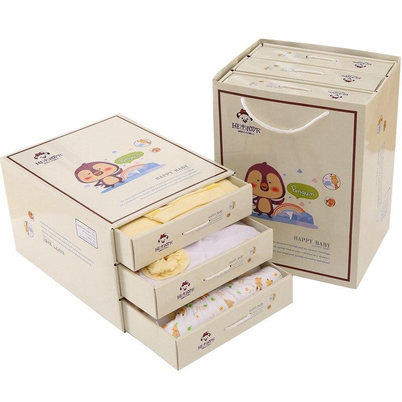 13Pcs/Lot 2017 Newborn Baby Girl Clothes Autumn Lucky bird Gift Box Set Cotton Character Baby Boy Clothes 2pcs set baby clothes set boy