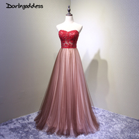 Vestido De Noiva Sexy Backless Long Wedding Dress Red A Line Beading Sleeveless Tulle Wedding Gowns