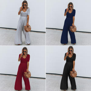 BFUSTYLE Women Jumpsuits Cotton Bodysuits Summer Female